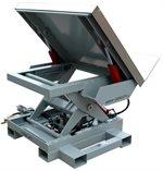 Scissors-Lift-4000-Pound-Capacity-Pneumatic-Powered-Tilting-Deck-Custom