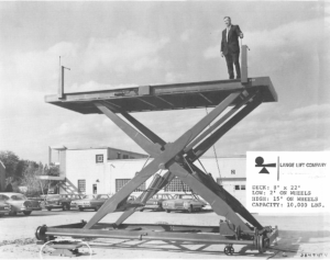 Anthony Lange, Lange Lift Founder - 1950 on a Lift Table