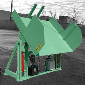 Custom Box Dumper with Cart Forks 1500lb - Lange Lifts