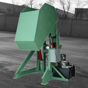 Custom Box Dumper with Perforated Draining Bucket 4000lb - Lange Lifts