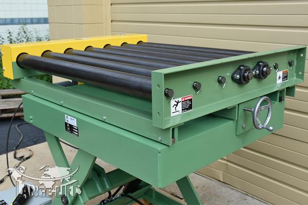 Custom Scissor Lift #33924-26 - Powered Roller Conveyor | Lange Lift