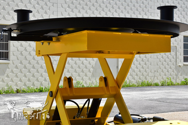 round scissor lift table