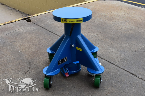 blue lift table