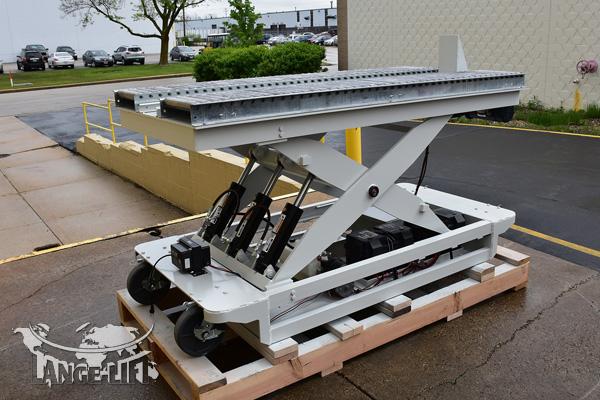 Custom Scissor Lift #34467 - Powered Die Pusher Conveyor