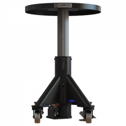 hydraulic lift table round front raised