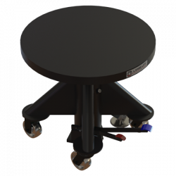 High Low View - 24-in Manual Powered Lift Table by Lange Lift