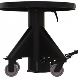 1000 lbs capacity hydraulic lift table round left side