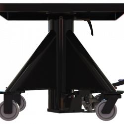 L 130 600px 1000 lbs capacity hydraulic lift table square left side