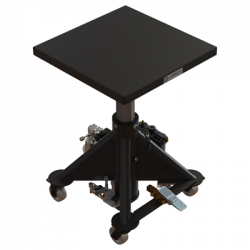 L 130 AP 600px 1000 lbs capacity air powered hydraulic lift table square isometric raised