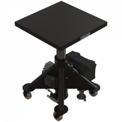 L130 bp 600px 1000 lbs capacity battery powered hydraulic lift table square isometric raised