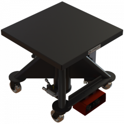 L 130 EP 600px 1000 lbs capacity electric powered hydraulic lift table square isometric
