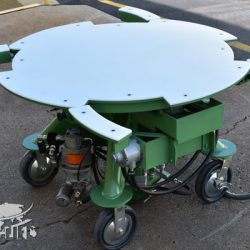 green air powered hydraulic lift table