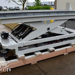 battery powered hydraulic scissor lift table roller conveyor 344667 A