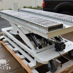 battery powered hydraulic scissor lift table roller conveyor 34467 B