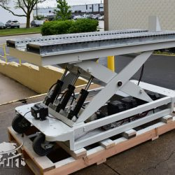 battery powered hydraulic scissor lift table roller conveyor 34467 c