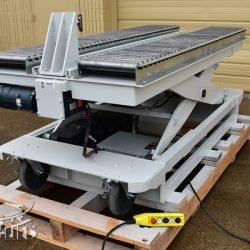 battery powered hydraulic scissor lift table roller conveyor 34467 e