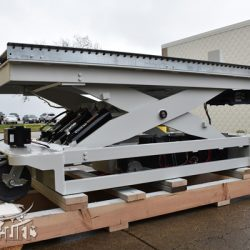 battery powered hydraulic scissor lift table roller conveyor 34467 f