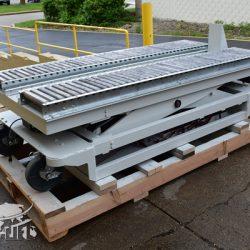 battery powered hydraulic scissor lift table roller conveyor 34467 g