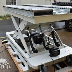 battery powered hydraulic scissor lift table roller conveyor 344667 i