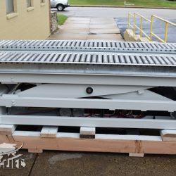 battery powered hydraulic scissor lift table roller conveyor 34467 j