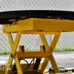 round scissor lift table