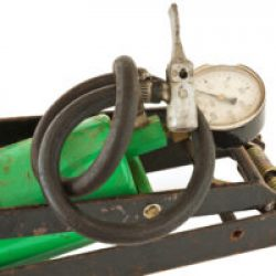 old foot pump assembly