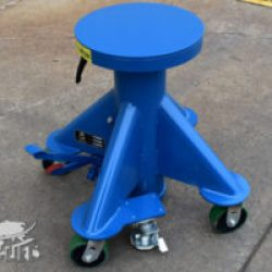 small blue lift table